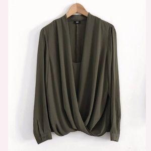 Mossimo wrap Top blouse shirt size XXL